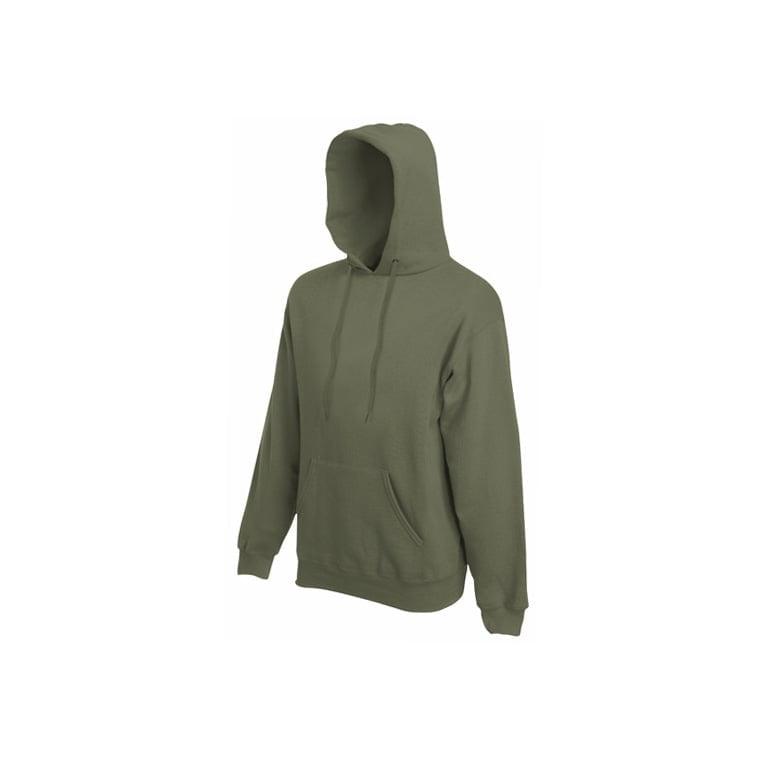 Bluzy - Bluza Premium Hooded - Fruit of the Loom 62-152-0 - Classic Olive - RAVEN - koszulki reklamowe z nadrukiem, odzież reklamowa i gastronomiczna