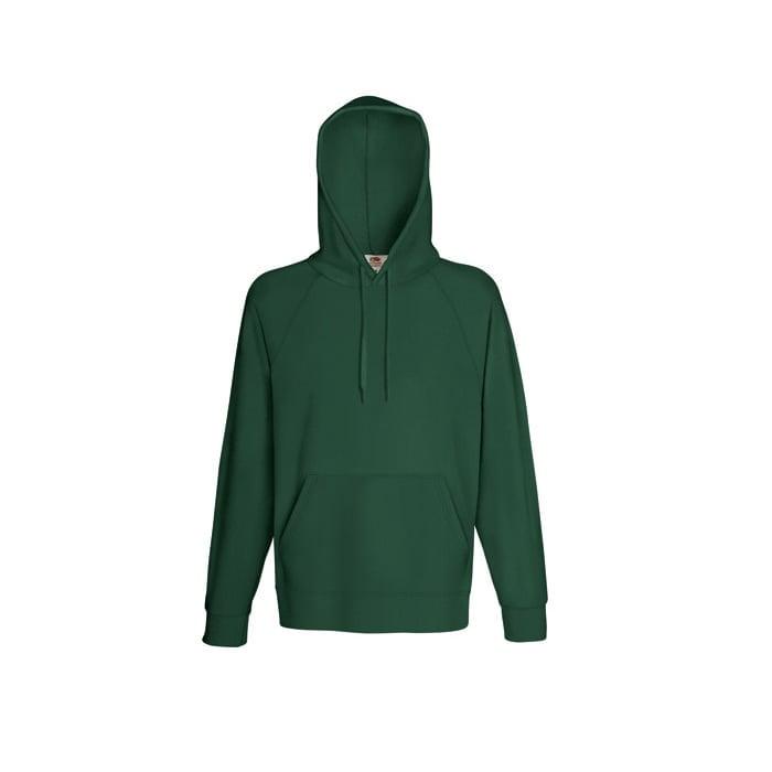 Bluzy - Bluza z kapturem Lightweight - Fruit of the Loom 62-140-0 - Bottle Green - RAVEN - koszulki reklamowe z nadrukiem, odzież reklamowa i gastronomiczna