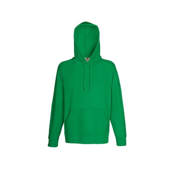 Bluzy - Bluza z kapturem Lightweight - Fruit of the Loom 62-140-0 - Kelly Green  - RAVEN - koszulki reklamowe z nadrukiem, odzież reklamowa i gastronomiczna