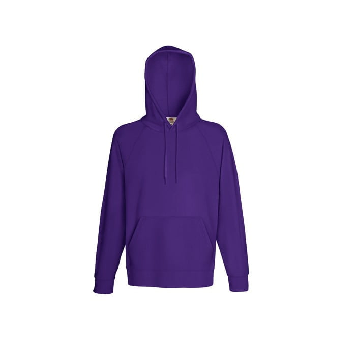 Bluzy - Bluza z kapturem Lightweight - Fruit of the Loom 62-140-0 - Purple - RAVEN - koszulki reklamowe z nadrukiem, odzież reklamowa i gastronomiczna