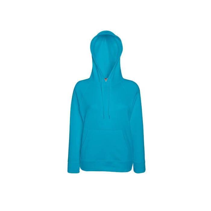 Bluzy - Damska bluza Lightweight Lady-Fit - Fruit of the Loom62-148-0 - Azure - RAVEN - koszulki reklamowe z nadrukiem, odzież reklamowa i gastronomiczna