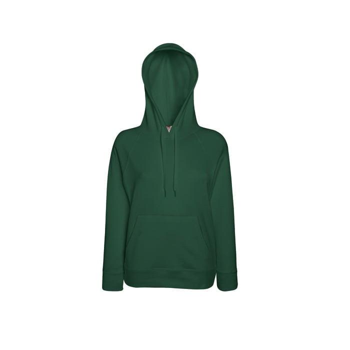 Bluzy - Damska bluza Lightweight Lady-Fit - Fruit of the Loom62-148-0 - Bottle Green - RAVEN - koszulki reklamowe z nadrukiem, odzież reklamowa i gastronomiczna