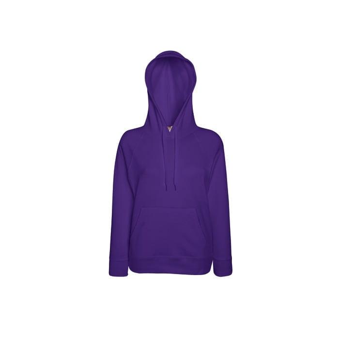 Bluzy - Damska bluza Lightweight Lady-Fit - Fruit of the Loom62-148-0 - Purple - RAVEN - koszulki reklamowe z nadrukiem, odzież reklamowa i gastronomiczna