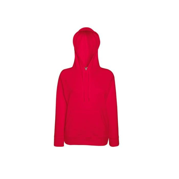 Bluzy - Damska bluza Lightweight Lady-Fit - Fruit of the Loom62-148-0 - Red - RAVEN - koszulki reklamowe z nadrukiem, odzież reklamowa i gastronomiczna