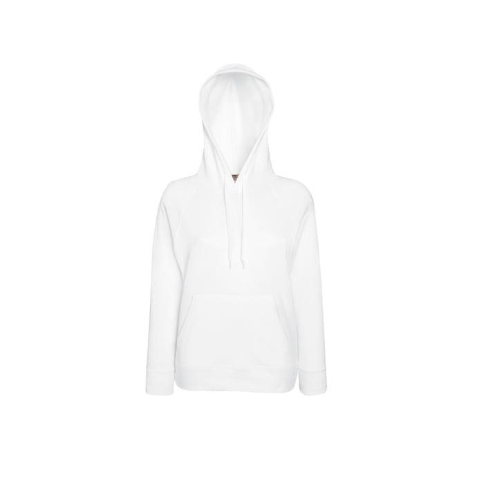 Bluzy - Damska bluza Lightweight Lady-Fit - Fruit of the Loom62-148-0 - White - RAVEN - koszulki reklamowe z nadrukiem, odzież reklamowa i gastronomiczna