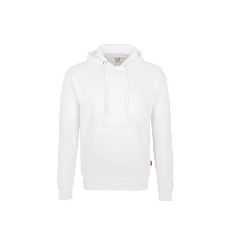 Bluzy - Bluza Premium z kapturem 601 - Hakro 601 - White - RAVEN - koszulki reklamowe z nadrukiem, odzież reklamowa i gastronomiczna
