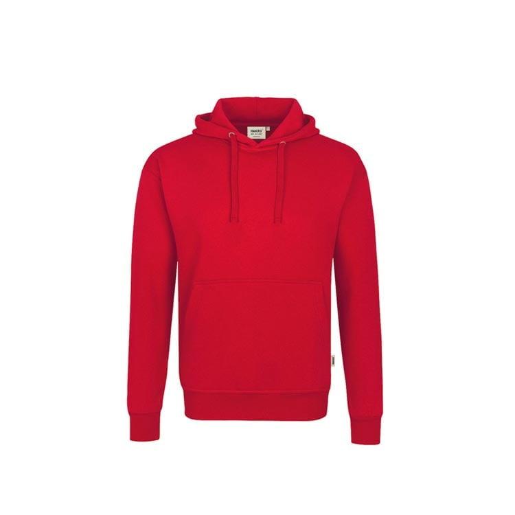 Bluzy - Bluza Premium z kapturem 601 - Hakro 601 - Red - RAVEN - koszulki reklamowe z nadrukiem, odzież reklamowa i gastronomiczna