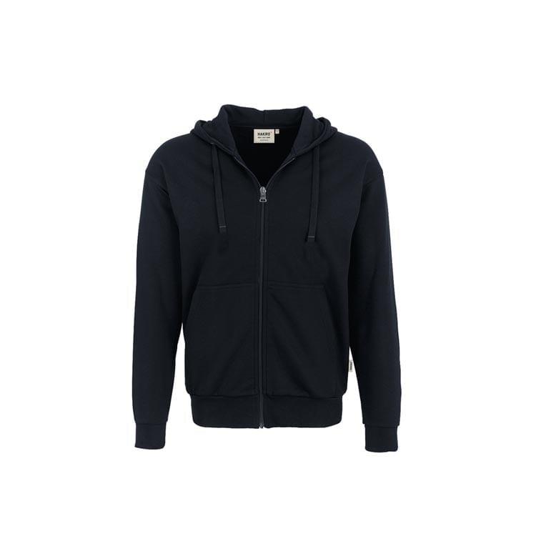 Bluzy - Bluza Premium rozpinana z kapturem 605 - Hakro 605 - Black - RAVEN - koszulki reklamowe z nadrukiem, odzież reklamowa i gastronomiczna
