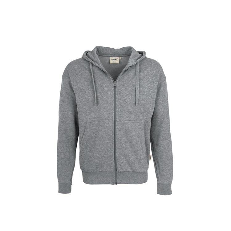 Bluzy - Bluza Premium rozpinana z kapturem 605 - Hakro 605 - Mottled Grey - RAVEN - koszulki reklamowe z nadrukiem, odzież reklamowa i gastronomiczna