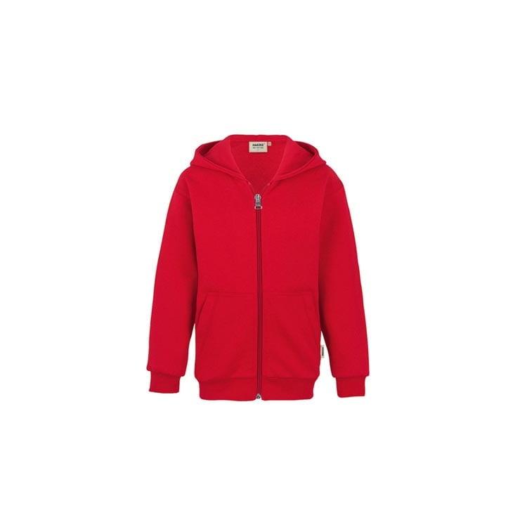 Bluzy - Dziecięca bluza Premium rozpinana z kapturem 620 - Hakro 620 - Red - RAVEN - koszulki reklamowe z nadrukiem, odzież reklamowa i gastronomiczna