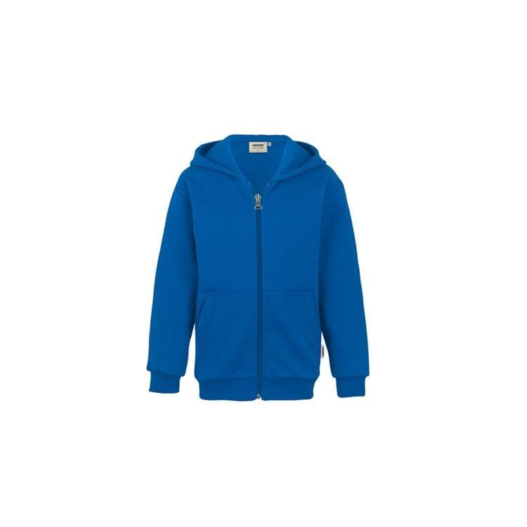 Bluzy - Dziecięca bluza Premium rozpinana z kapturem 620 - Hakro 620 - Royal Blue - RAVEN - koszulki reklamowe z nadrukiem, odzież reklamowa i gastronomiczna