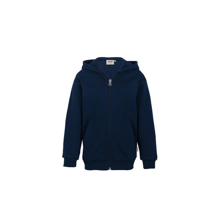 Bluzy - Dziecięca bluza Premium rozpinana z kapturem 620 - Hakro 620 - Ink Blue - RAVEN - koszulki reklamowe z nadrukiem, odzież reklamowa i gastronomiczna