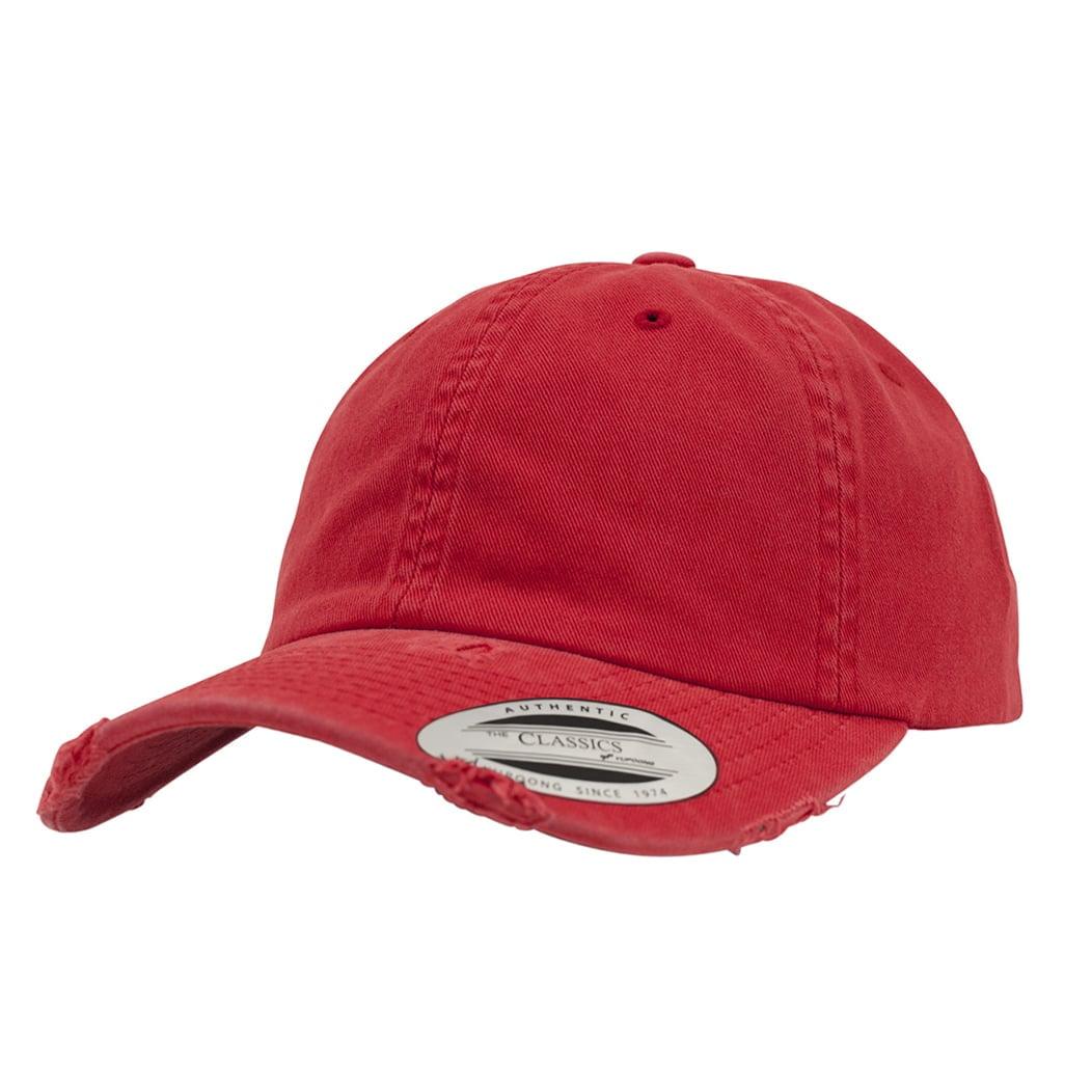 Niskoprofilowa czapka Dad Hat z efektem zniszczenia