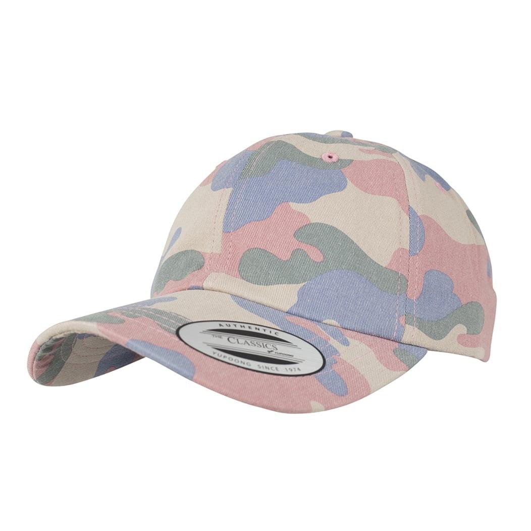 Niskoprofilowa czapka Dad Hat z efektem kamuflażu