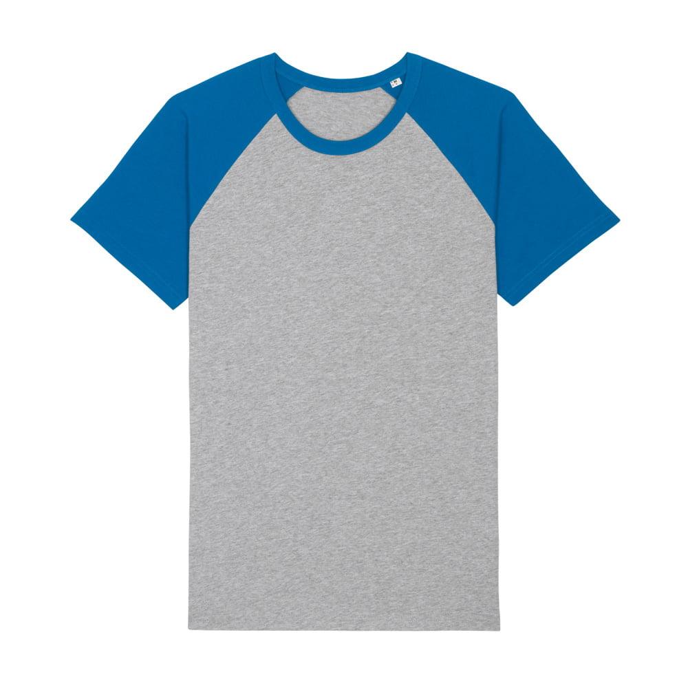 Koszulki T-Shirt - T-shirt Unisex Catcher Short Sleeve - STTU825 - Heather Grey/Royal Blue - RAVEN - koszulki reklamowe z nadrukiem, odzież reklamowa i gastronomiczna