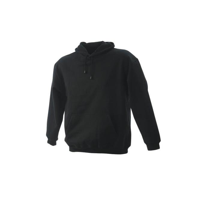 Bluzy - Męska bluza bez zamka Hooded Jacket - James & Nicholson JN047 - Black - RAVEN - koszulki reklamowe z nadrukiem, odzież reklamowa i gastronomiczna