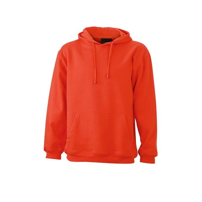 Bluzy - Męska bluza bez zamka Hooded Jacket - James & Nicholson JN047 - Grenadine - RAVEN - koszulki reklamowe z nadrukiem, odzież reklamowa i gastronomiczna