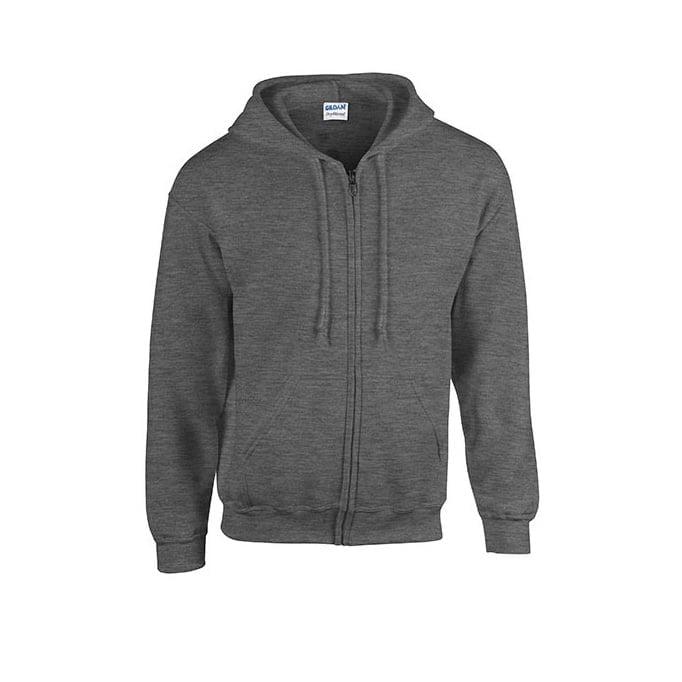 Bluzy - Bluza z pełnym zamkiem Heavy Blend™ - Gildan 18600 - Dark Heather - RAVEN - koszulki reklamowe z nadrukiem, odzież reklamowa i gastronomiczna