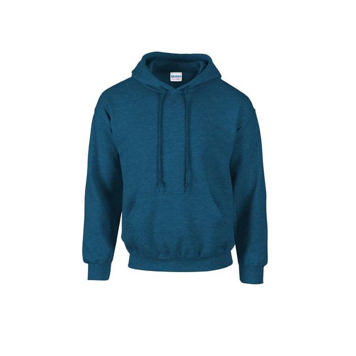 Bluzy - Bluza z kapturem Heavy Blend™ - Gildan 18500 - Antique Sapphire (Heather) - RAVEN - koszulki reklamowe z nadrukiem, odzież reklamowa i gastronomiczna