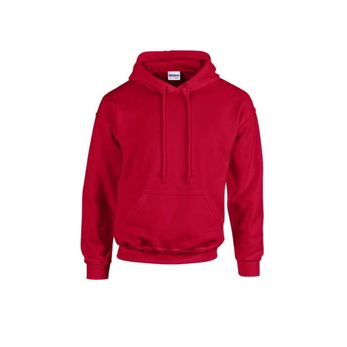 Bluzy - Bluza z kapturem Heavy Blend™ - Gildan 18500 - Cherry Red - RAVEN - koszulki reklamowe z nadrukiem, odzież reklamowa i gastronomiczna