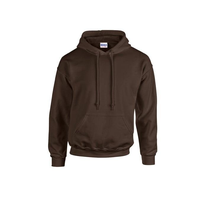Bluzy - Bluza z kapturem Heavy Blend™ - Gildan 18500 - Dark Chocolate - RAVEN - koszulki reklamowe z nadrukiem, odzież reklamowa i gastronomiczna