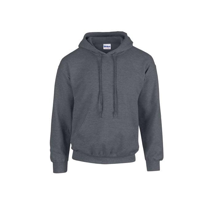 Bluzy - Bluza z kapturem Heavy Blend™ - Gildan 18500 - Dark Heather - RAVEN - koszulki reklamowe z nadrukiem, odzież reklamowa i gastronomiczna