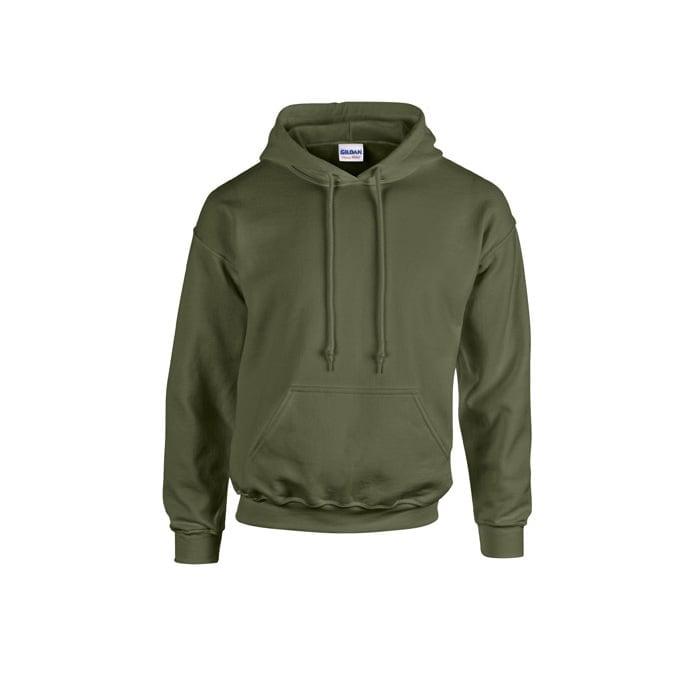 Bluzy - Bluza z kapturem Heavy Blend™ - Gildan 18500 - Military Green - RAVEN - koszulki reklamowe z nadrukiem, odzież reklamowa i gastronomiczna