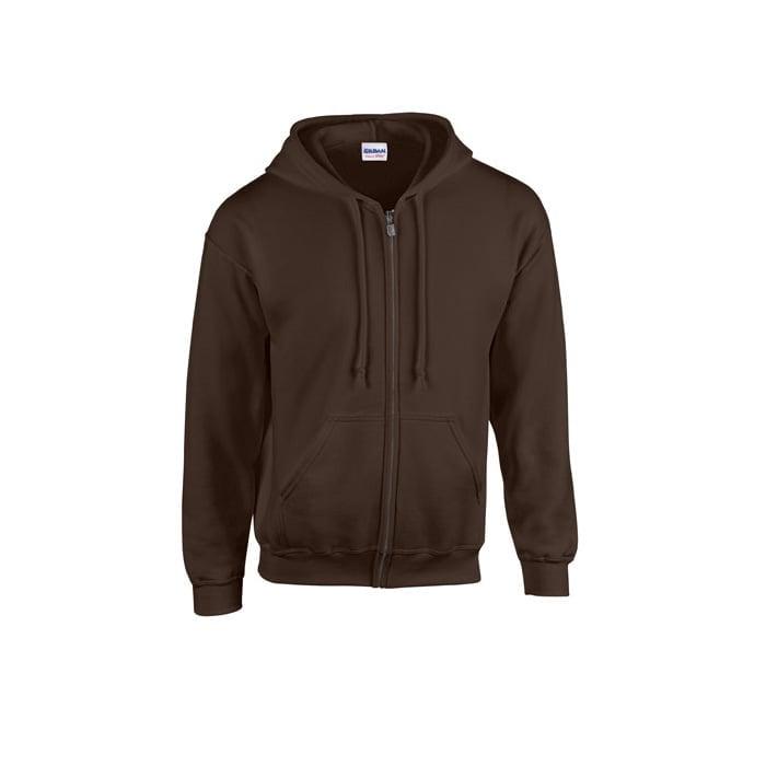 Bluzy - Bluza z pełnym zamkiem Heavy Blend™ - Gildan 18600 - Dark Chocolate - RAVEN - koszulki reklamowe z nadrukiem, odzież reklamowa i gastronomiczna