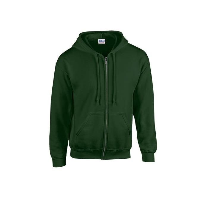 Bluzy - Bluza z pełnym zamkiem Heavy Blend™ - Gildan 18600 - Forest Green - RAVEN - koszulki reklamowe z nadrukiem, odzież reklamowa i gastronomiczna