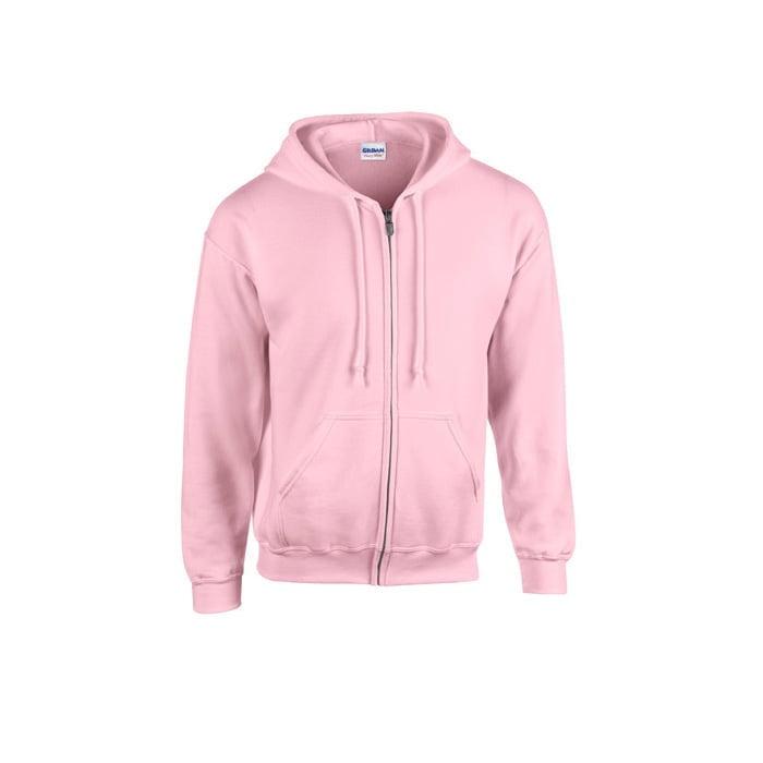 Bluzy - Bluza z pełnym zamkiem Heavy Blend™ - Gildan 18600 - Light Pink - RAVEN - koszulki reklamowe z nadrukiem, odzież reklamowa i gastronomiczna