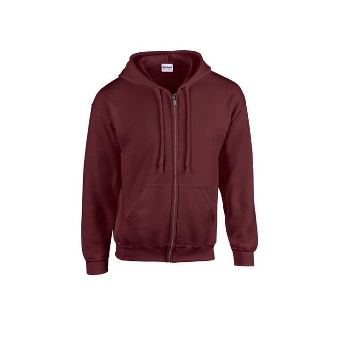 Bluzy - Bluza z pełnym zamkiem Heavy Blend™ - Gildan 18600 - Maroon - RAVEN - koszulki reklamowe z nadrukiem, odzież reklamowa i gastronomiczna