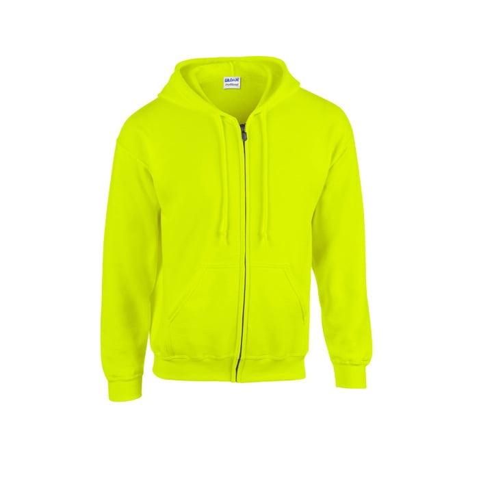 Bluzy - Bluza z pełnym zamkiem Heavy Blend™ - Gildan 18600 - Safety Green - RAVEN - koszulki reklamowe z nadrukiem, odzież reklamowa i gastronomiczna