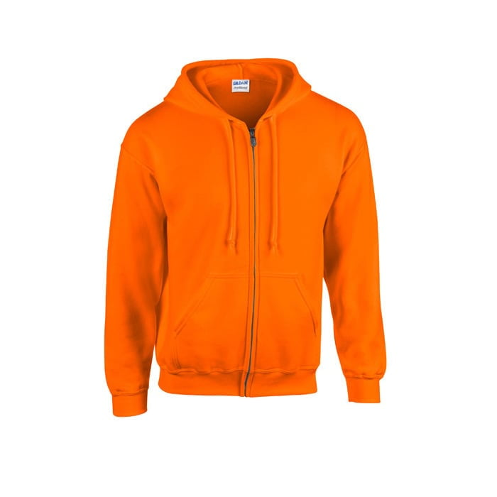 Bluzy - Bluza z pełnym zamkiem Heavy Blend™ - Gildan 18600 - Safety Orange - RAVEN - koszulki reklamowe z nadrukiem, odzież reklamowa i gastronomiczna