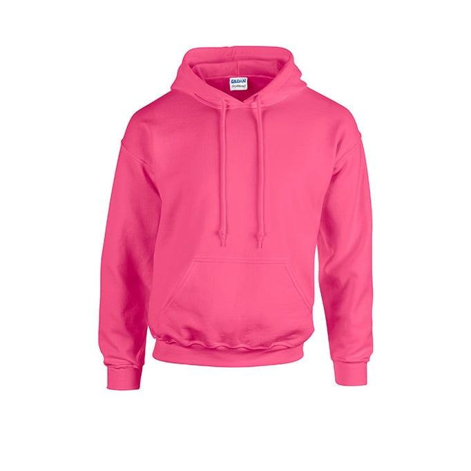 Bluzy - Bluza z kapturem Heavy Blend™ - Gildan 18500 - Safety Pink - RAVEN - koszulki reklamowe z nadrukiem, odzież reklamowa i gastronomiczna