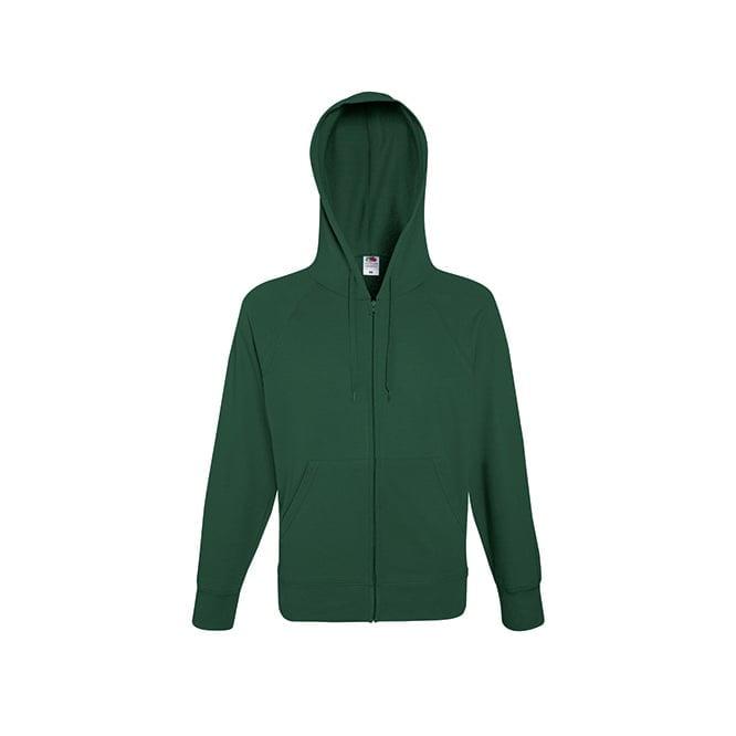 Bluzy - Bluza z zamkiem Lightweight - Fruit of the Loom 62-144-0 - Bottle Green - RAVEN - koszulki reklamowe z nadrukiem, odzież reklamowa i gastronomiczna