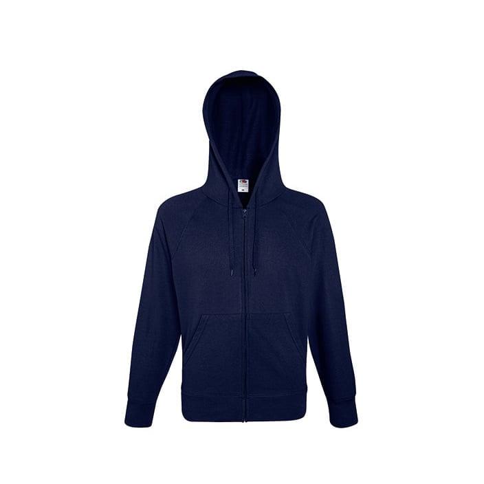Bluzy - Bluza z zamkiem Lightweight - Fruit of the Loom 62-144-0 - Deep Navy - RAVEN - koszulki reklamowe z nadrukiem, odzież reklamowa i gastronomiczna