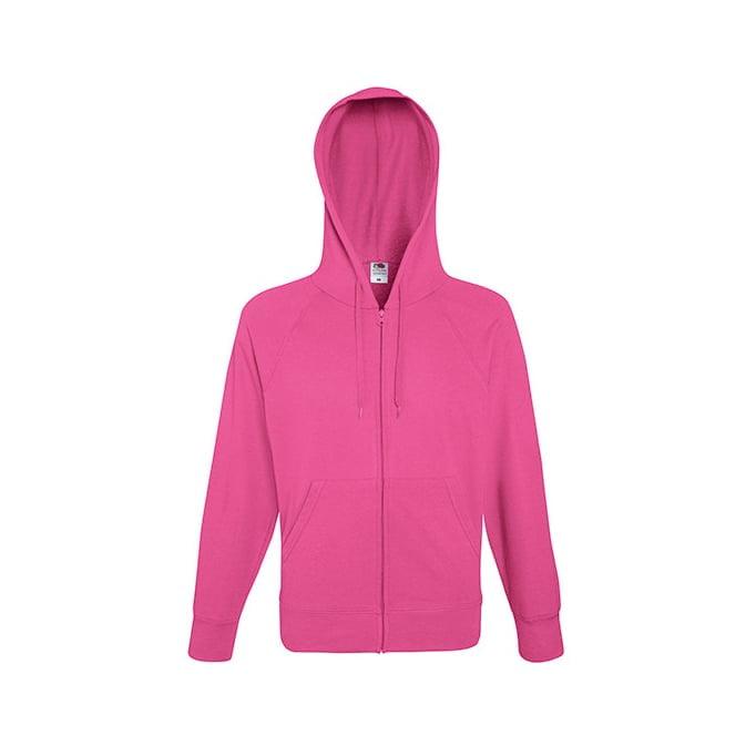 Bluzy - Bluza z zamkiem Lightweight - Fruit of the Loom 62-144-0 - Fuchsia - RAVEN - koszulki reklamowe z nadrukiem, odzież reklamowa i gastronomiczna