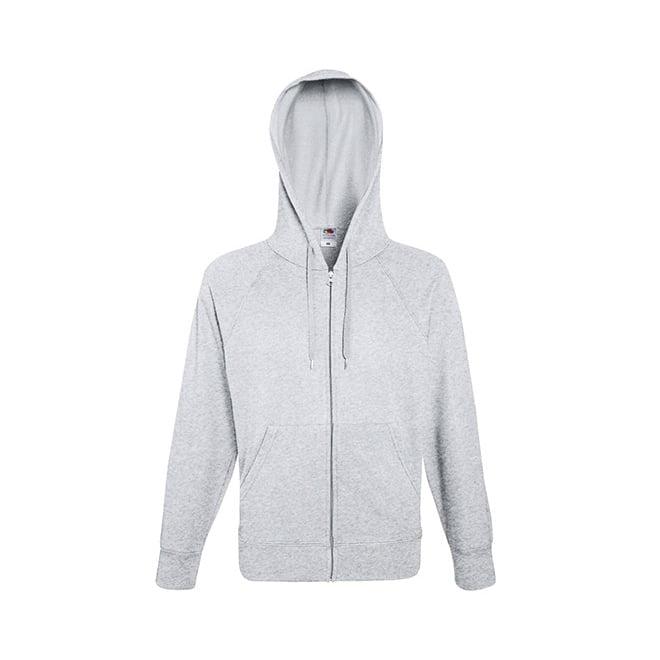 Bluzy - Bluza z zamkiem Lightweight - Fruit of the Loom 62-144-0 - White - RAVEN - koszulki reklamowe z nadrukiem, odzież reklamowa i gastronomiczna