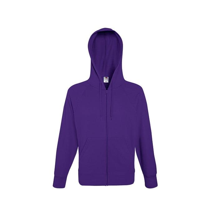 Bluzy - Bluza z zamkiem Lightweight - Fruit of the Loom 62-144-0 - Purple - RAVEN - koszulki reklamowe z nadrukiem, odzież reklamowa i gastronomiczna