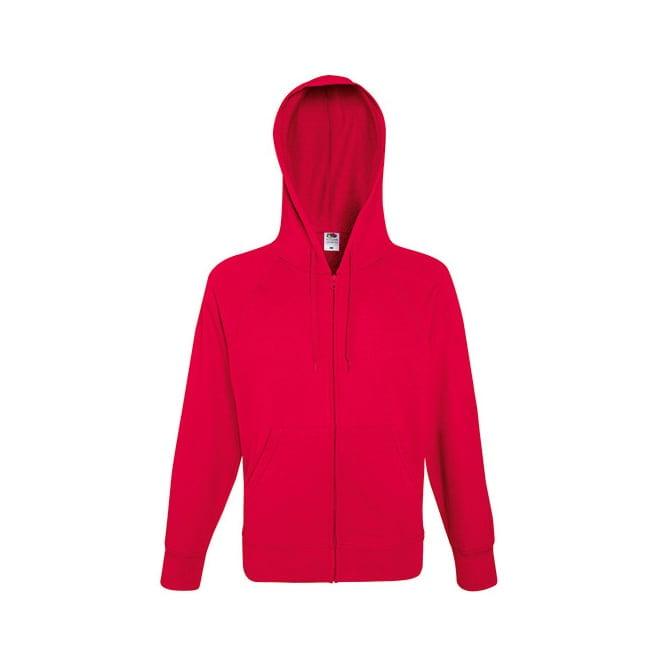 Bluzy - Bluza z zamkiem Lightweight - Fruit of the Loom 62-144-0 - Red - RAVEN - koszulki reklamowe z nadrukiem, odzież reklamowa i gastronomiczna