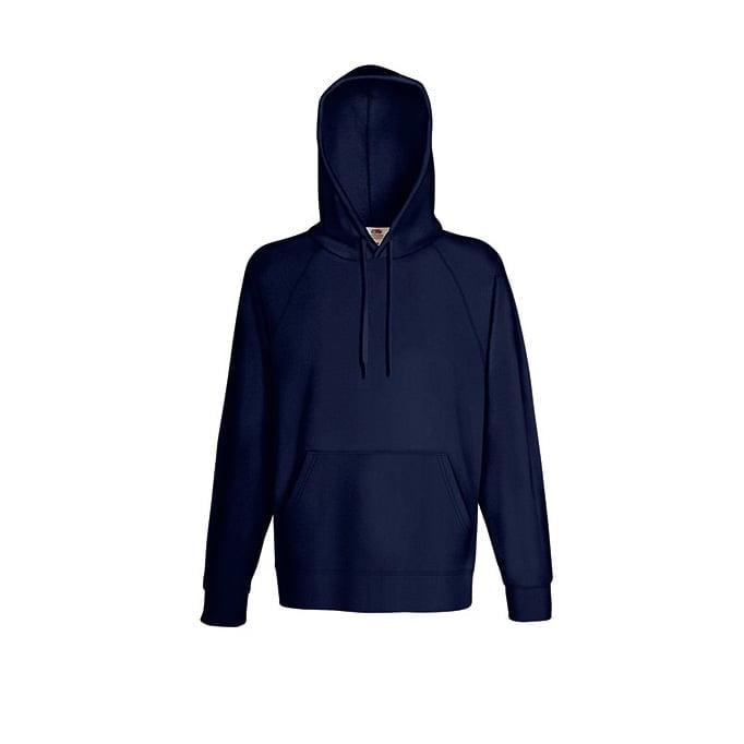 Bluzy - Bluza z kapturem Lightweight - Fruit of the Loom 62-140-0 - Deep Navy - RAVEN - koszulki reklamowe z nadrukiem, odzież reklamowa i gastronomiczna