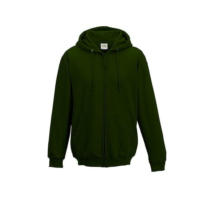 Bluzy - Bluza z kapturem Zoodie - Just Hoods JH050 - Forest Green - RAVEN - koszulki reklamowe z nadrukiem, odzież reklamowa i gastronomiczna