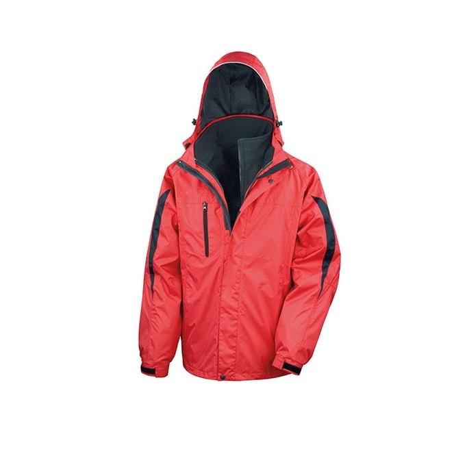 Kurtki - Men`s 3 in 1 Softshell Journey Jacket - R400M - Red - RAVEN - koszulki reklamowe z nadrukiem, odzież reklamowa i gastronomiczna