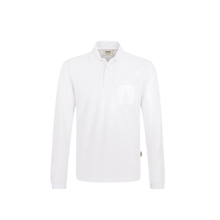 Koszulka polo z długim rękawem i kieszonką na piersi Top 809