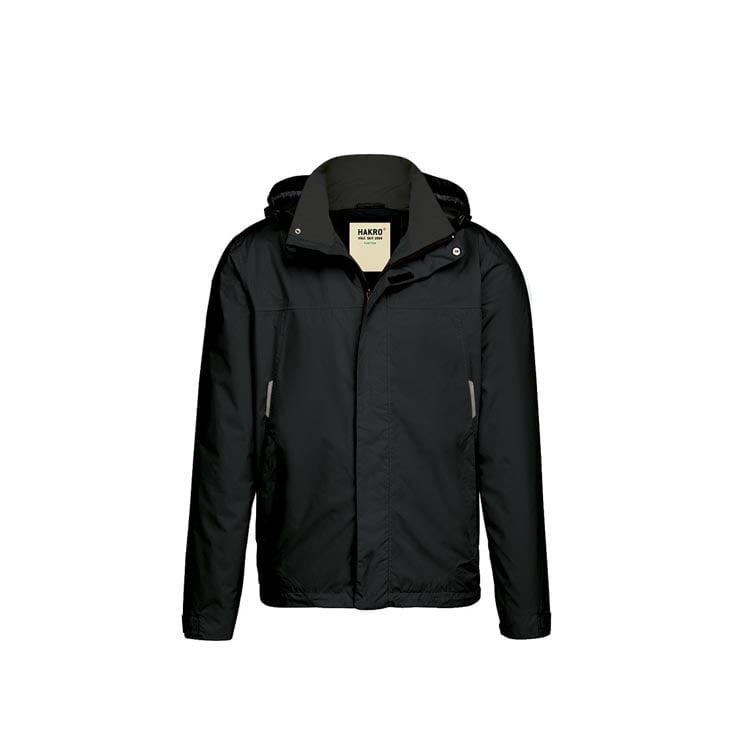 Kurtki - Lekka męska kurtka przeciwdeszczowa Connecticut 862 - Hakro 862 - Black - RAVEN - koszulki reklamowe z nadrukiem, odzież reklamowa i gastronomiczna