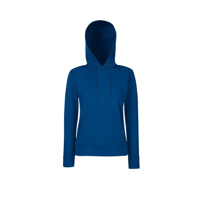 Bluzy - Klasyczna bluza z kapturem Lady-Fit - Fruit of the Loom 62-038-0 - Navy - RAVEN - koszulki reklamowe z nadrukiem, odzież reklamowa i gastronomiczna