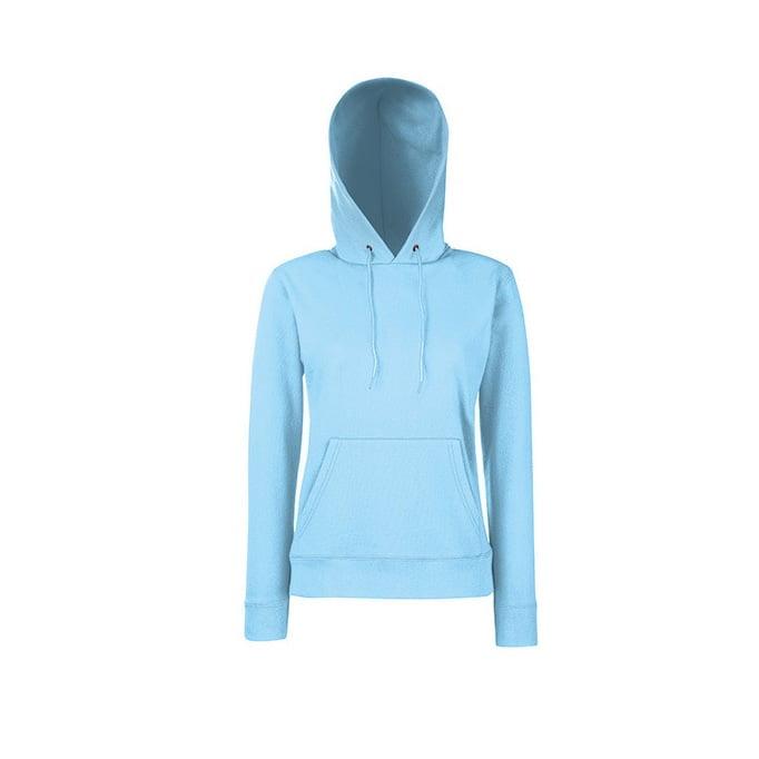 Bluzy - Klasyczna bluza z kapturem Lady-Fit - Fruit of the Loom 62-038-0 - Sky Blue - RAVEN - koszulki reklamowe z nadrukiem, odzież reklamowa i gastronomiczna