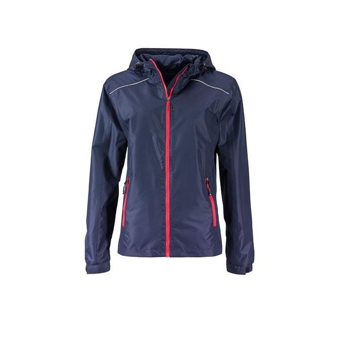 Kurtki - Ladies` Rain Jacket - JN1117 - Navy - RAVEN - koszulki reklamowe z nadrukiem, odzież reklamowa i gastronomiczna