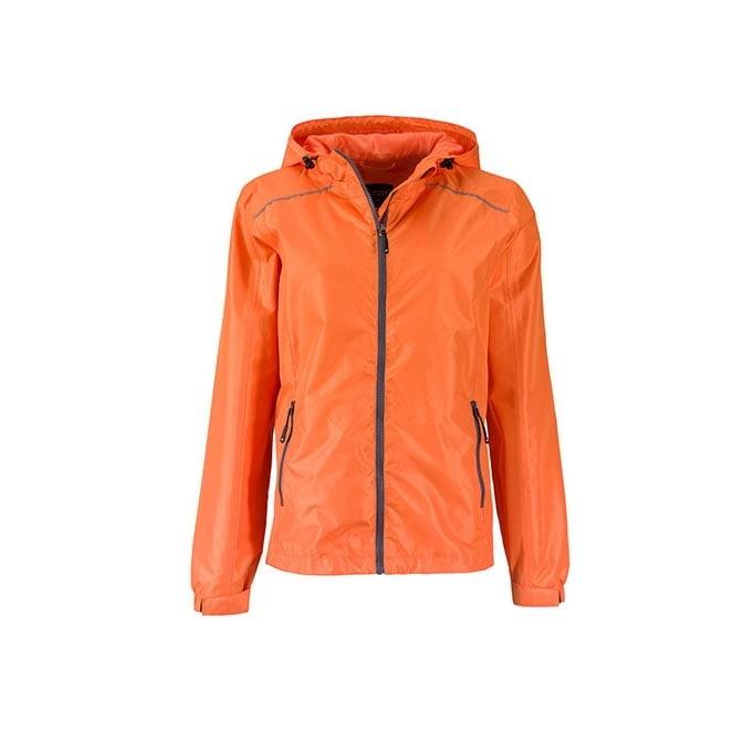 Kurtki - Ladies` Rain Jacket - JN1117 - Orange - RAVEN - koszulki reklamowe z nadrukiem, odzież reklamowa i gastronomiczna