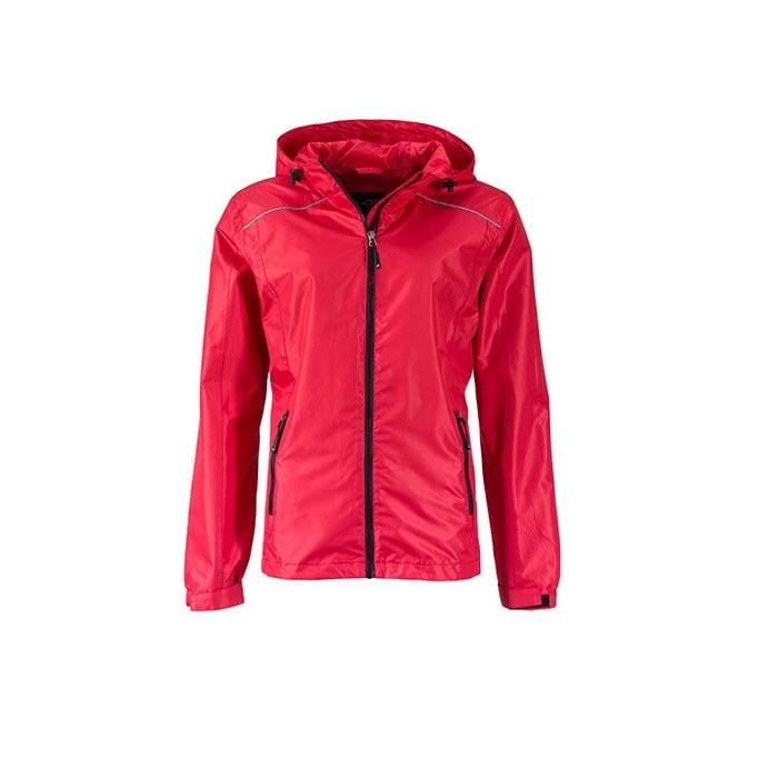 Kurtki - Ladies` Rain Jacket - JN1117 - Red - RAVEN - koszulki reklamowe z nadrukiem, odzież reklamowa i gastronomiczna